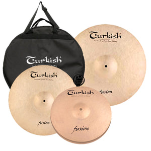 Turkish Fusion Cymbal Pack Box Set (14HH-16CR-20R)