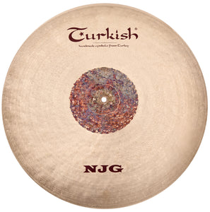 "Turkish Cymbals 22"" NJG Flat Ride Sizzle/Rivets"