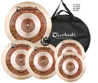 Turkish Sehzade Cymbal Pack Box Set (14HH-16-18CR-20R)