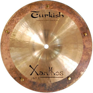 "Turkish Cymbals 10"" Xanthos Jazz Reverse Bell Sizzle Splash"