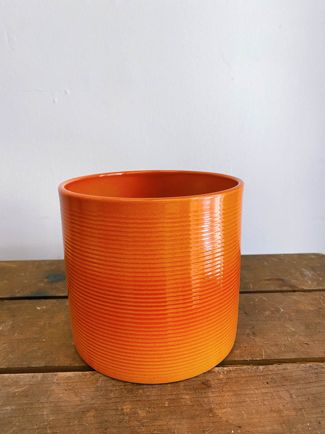 Bright and Bold Ribbed Pot (Assorted Colours)