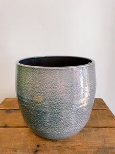 Black Ombre Tapered Pot