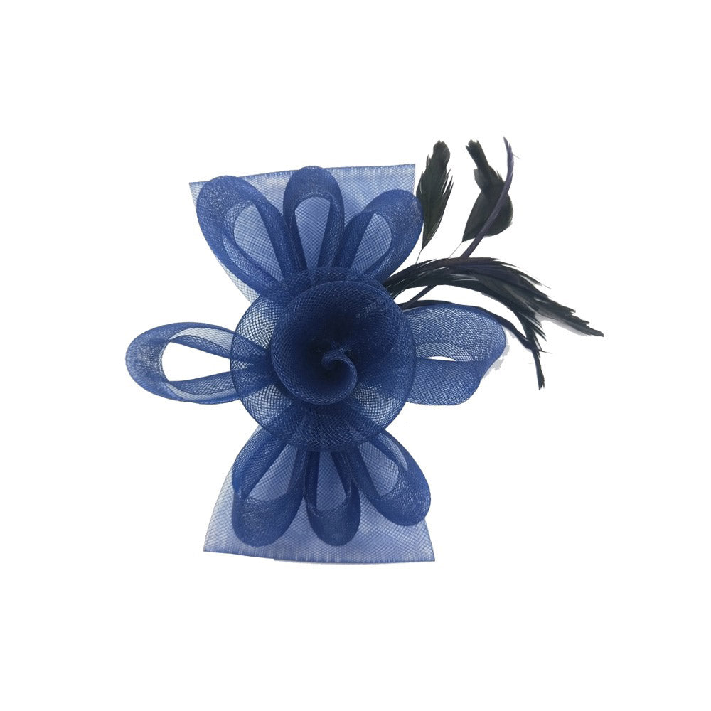 Fascinator flower navy