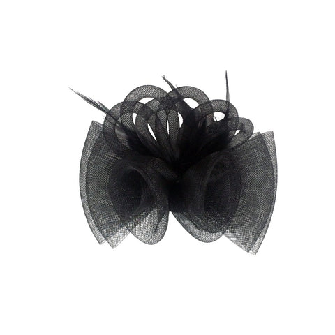Fascinator flower detail black