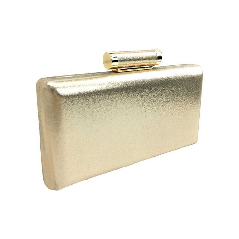 Clutch bag shimmer champagne