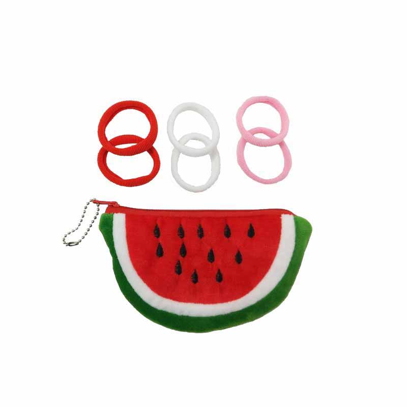 Fruit purse with elastics
