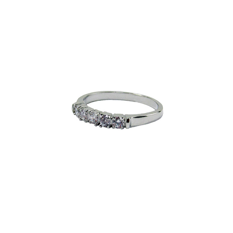 Cubic zirconia ring silver