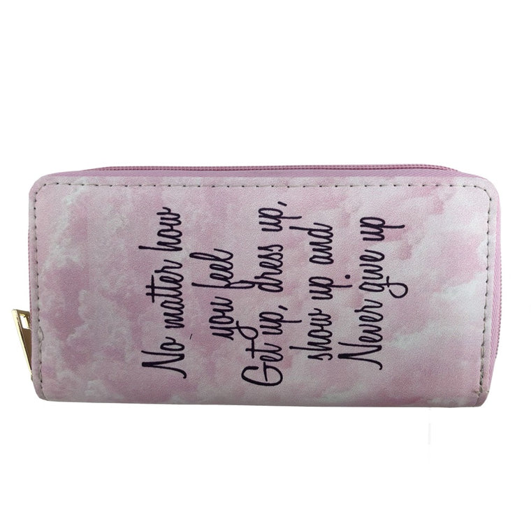 Never give up print wallet