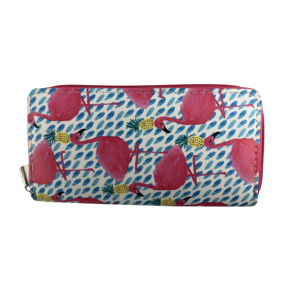 Flamingo mix print wallet