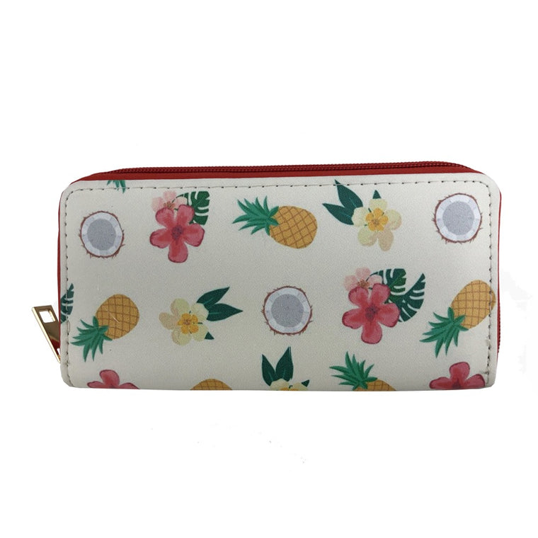 Tropical fruit print wallet