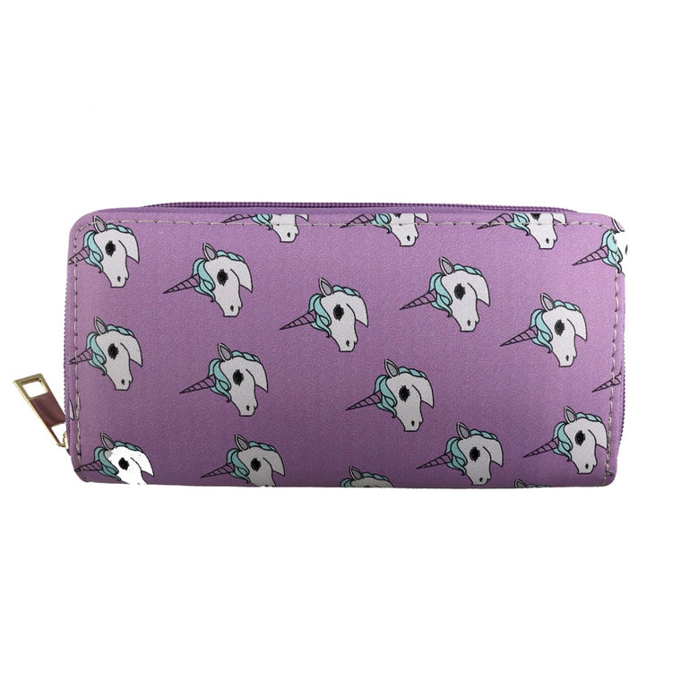 Unicorn printed wallet