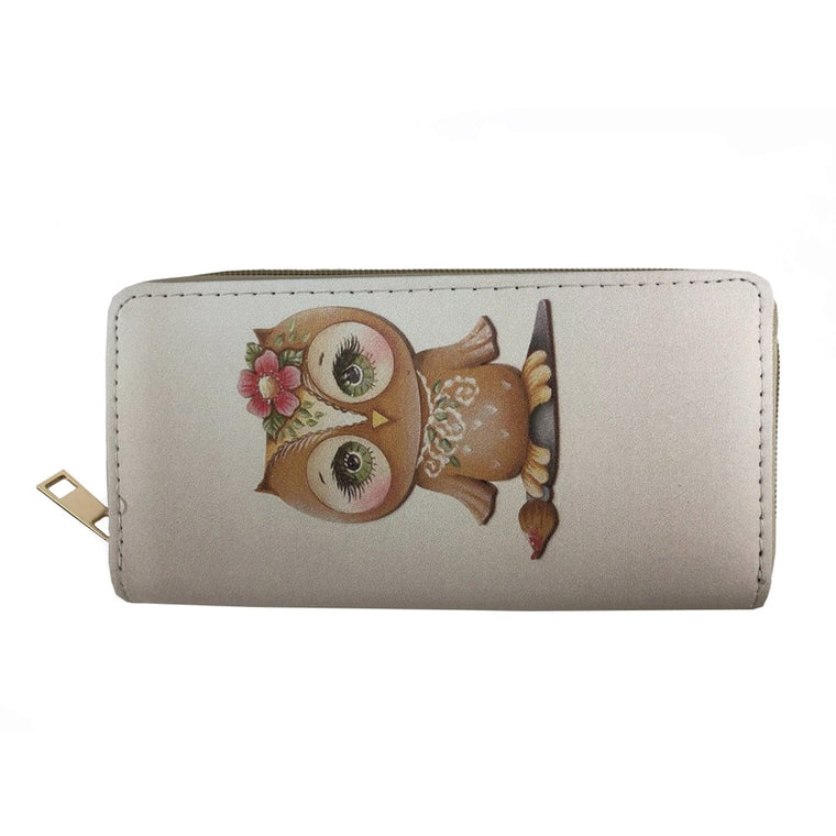 Owl printed wallet