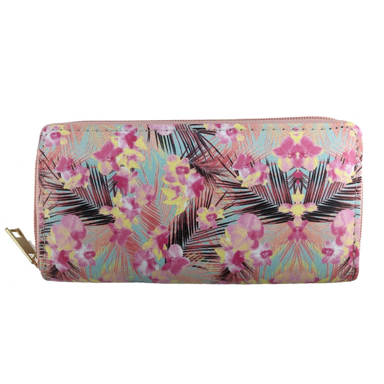 Tropical bright print wallet