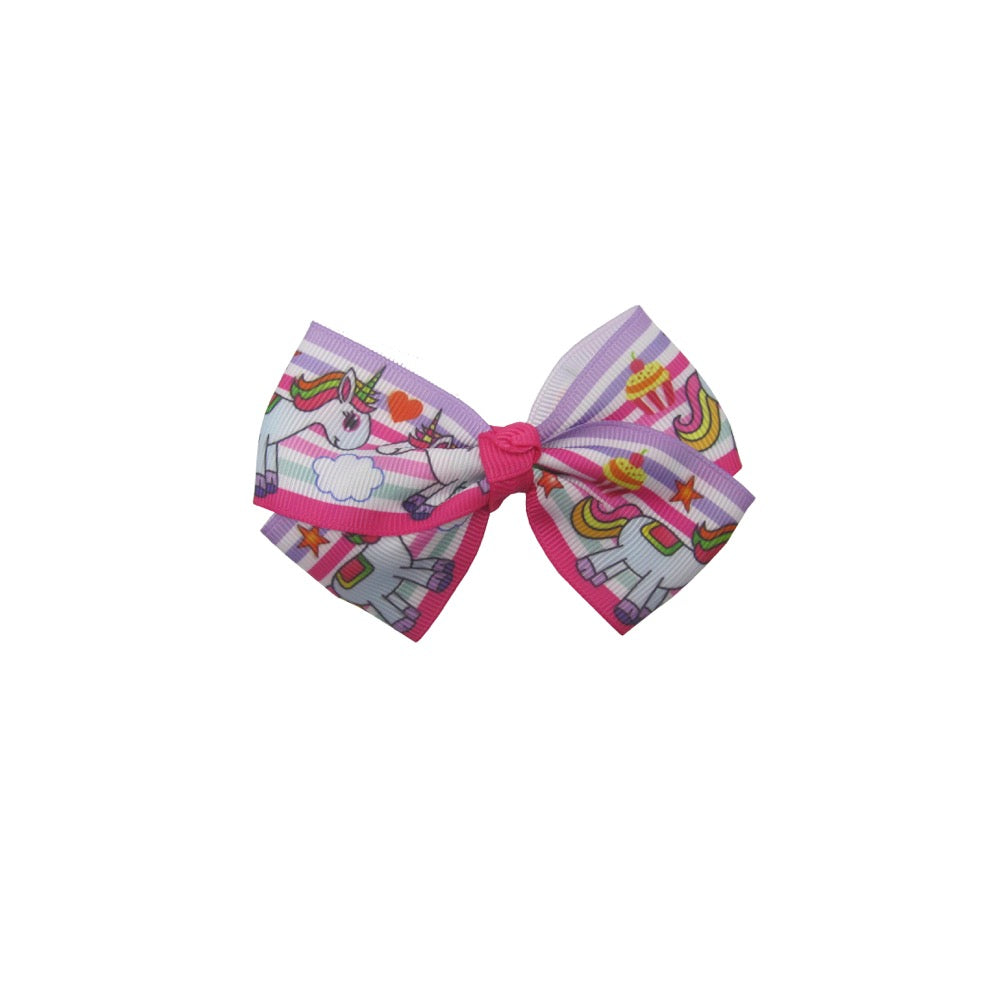 Unicorn Bow & Hairband Set