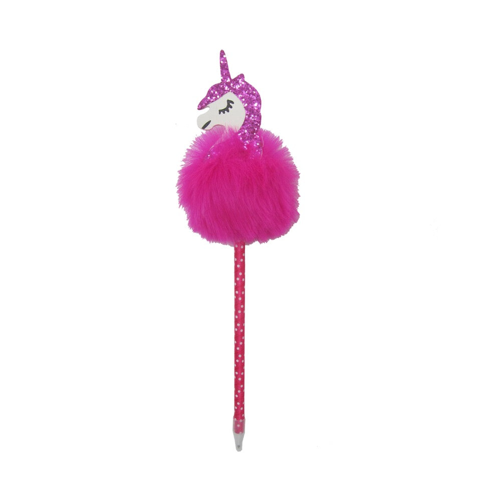 Unicorn Pompom Pen