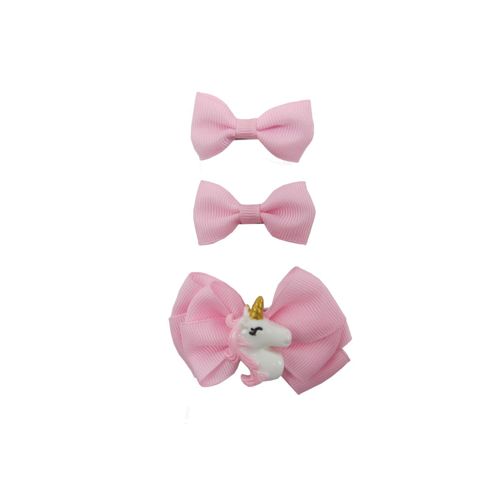 3Pk Unicorn Bow Set