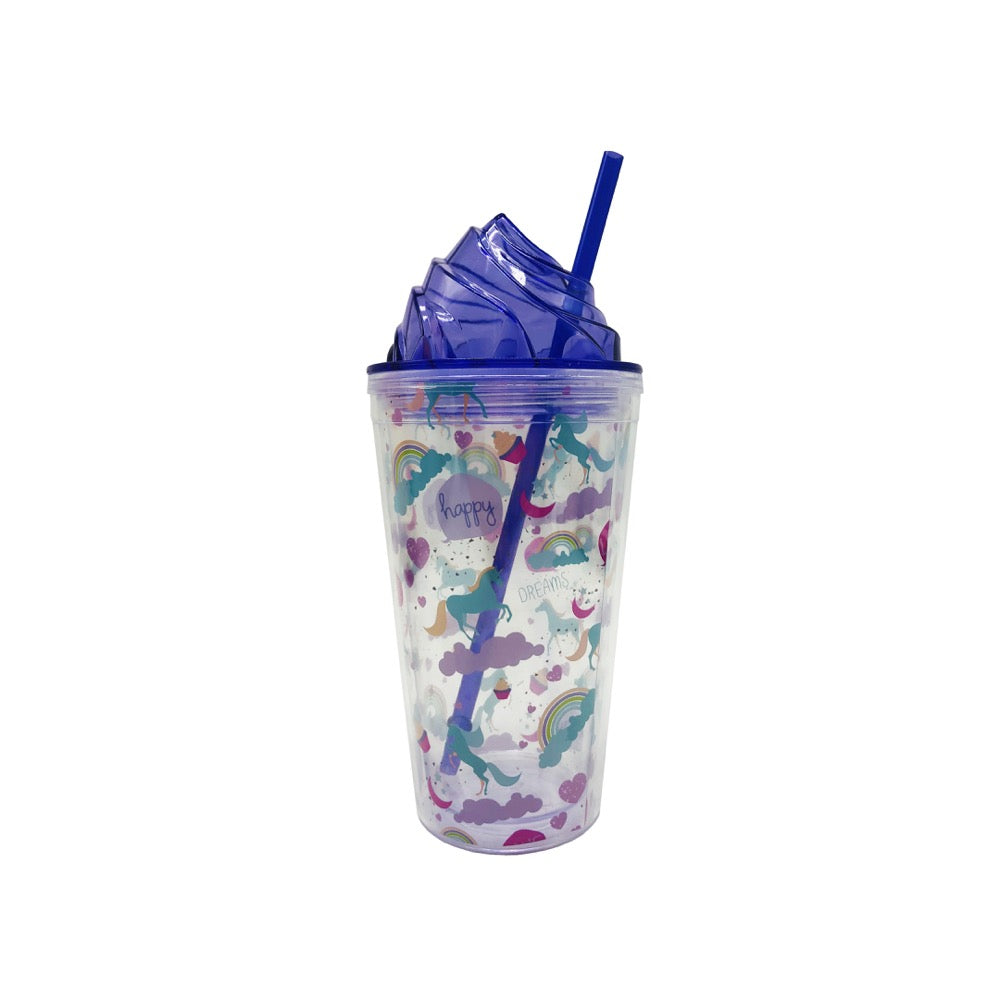 Unicorn Swirl Top Cup