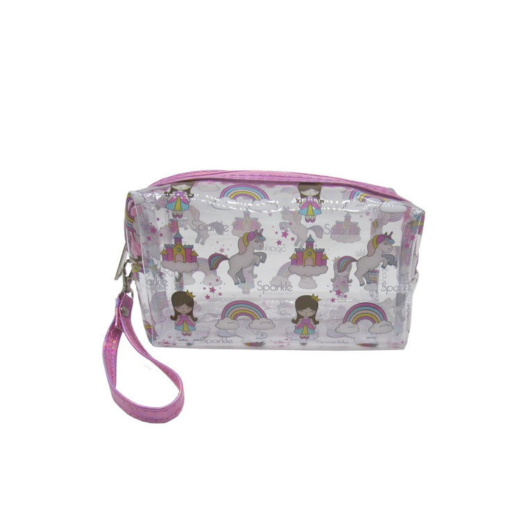 Unicorn Clear Cosmetic Bag