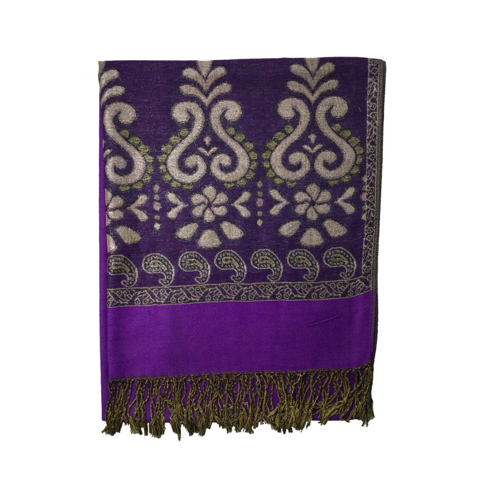 Pulse Pashmina Style Scarf Gift Box-Purple