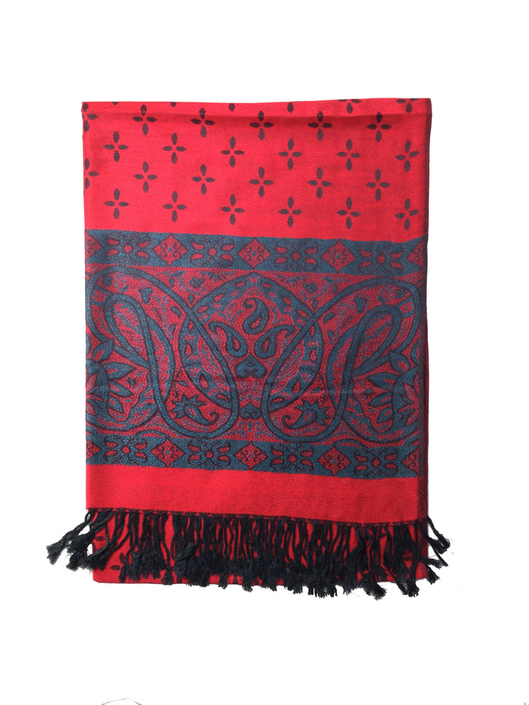Pashmina Style Scarf Red
