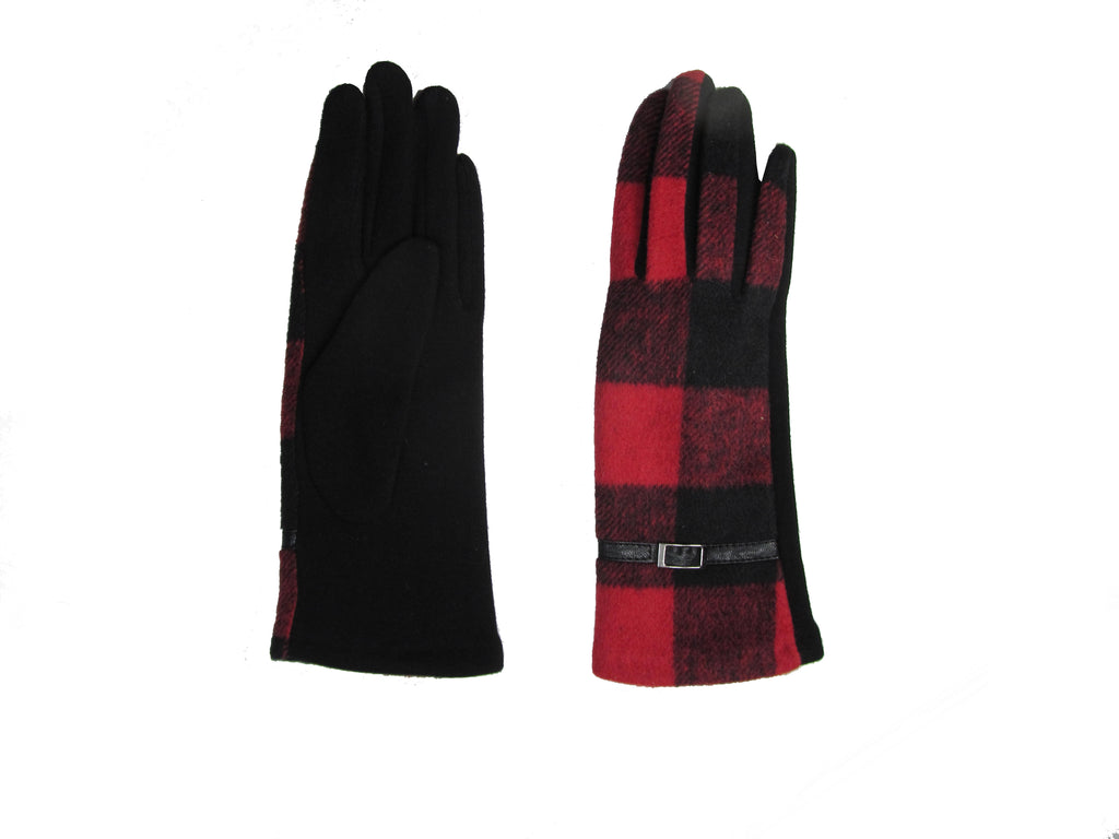Check Glove Red & Black