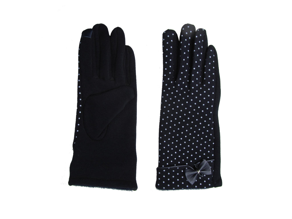 Glove Ditsy Polka Dot Navy