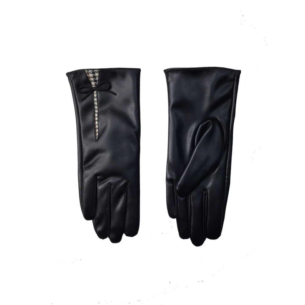 Pusle Check Detail Gloves Gift Box-Black