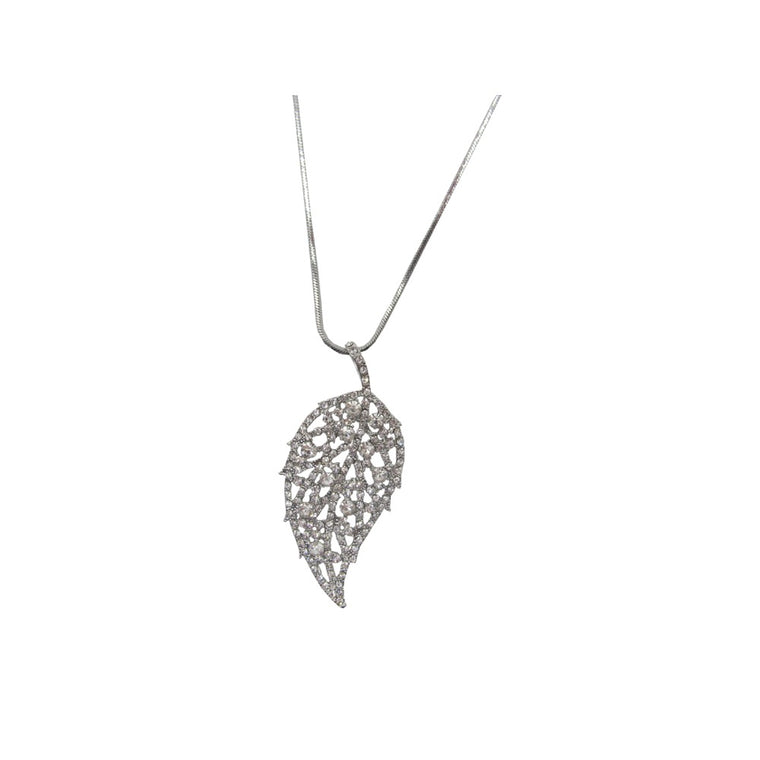 Pulse Leaf Style Necklace Gift Box-Silver