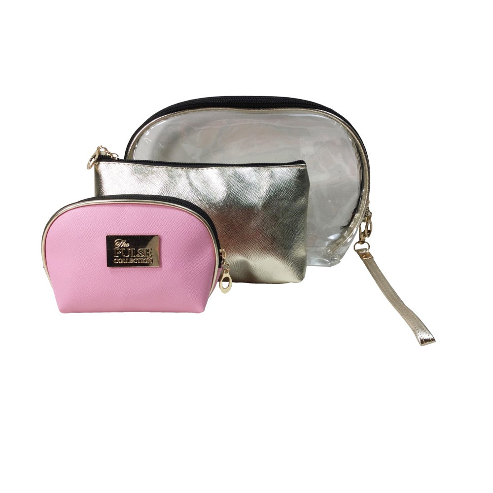 Pulse Gift Set 3pc Cosmetic Bag