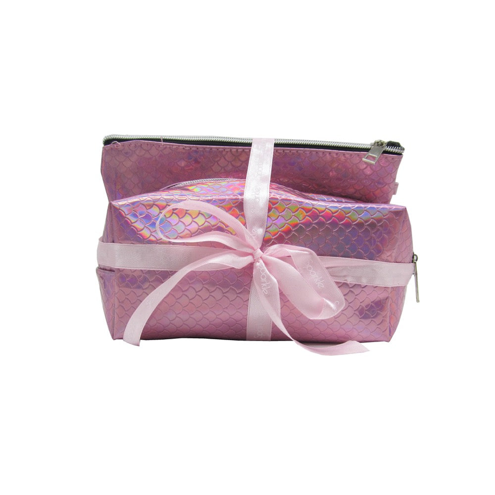 Sparkle Gift Set 2pc Mermaid Cosmetic Bags
