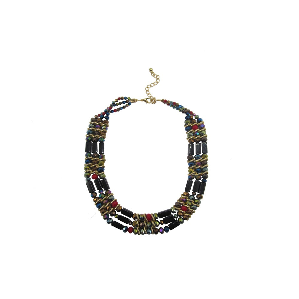 3Row Beaded Necklace Colour