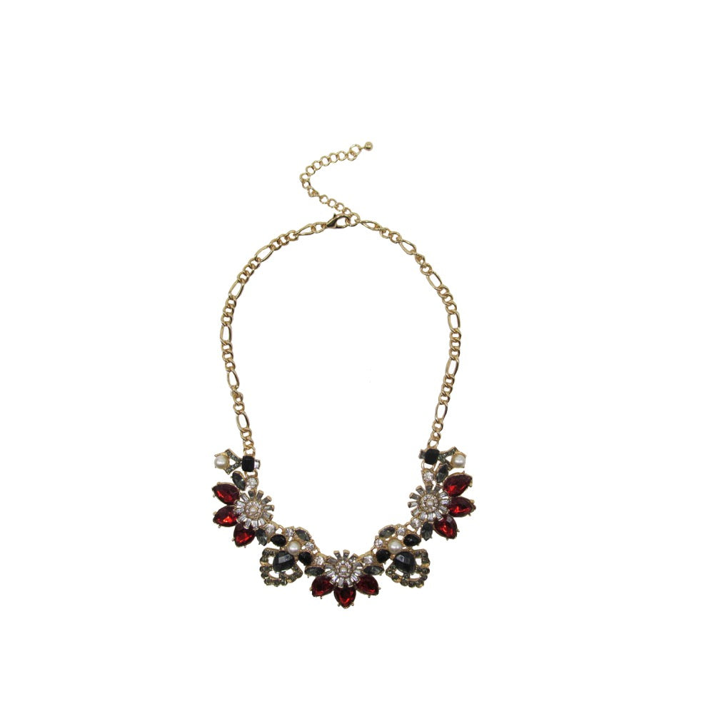 Statement Flower Necklace Colour