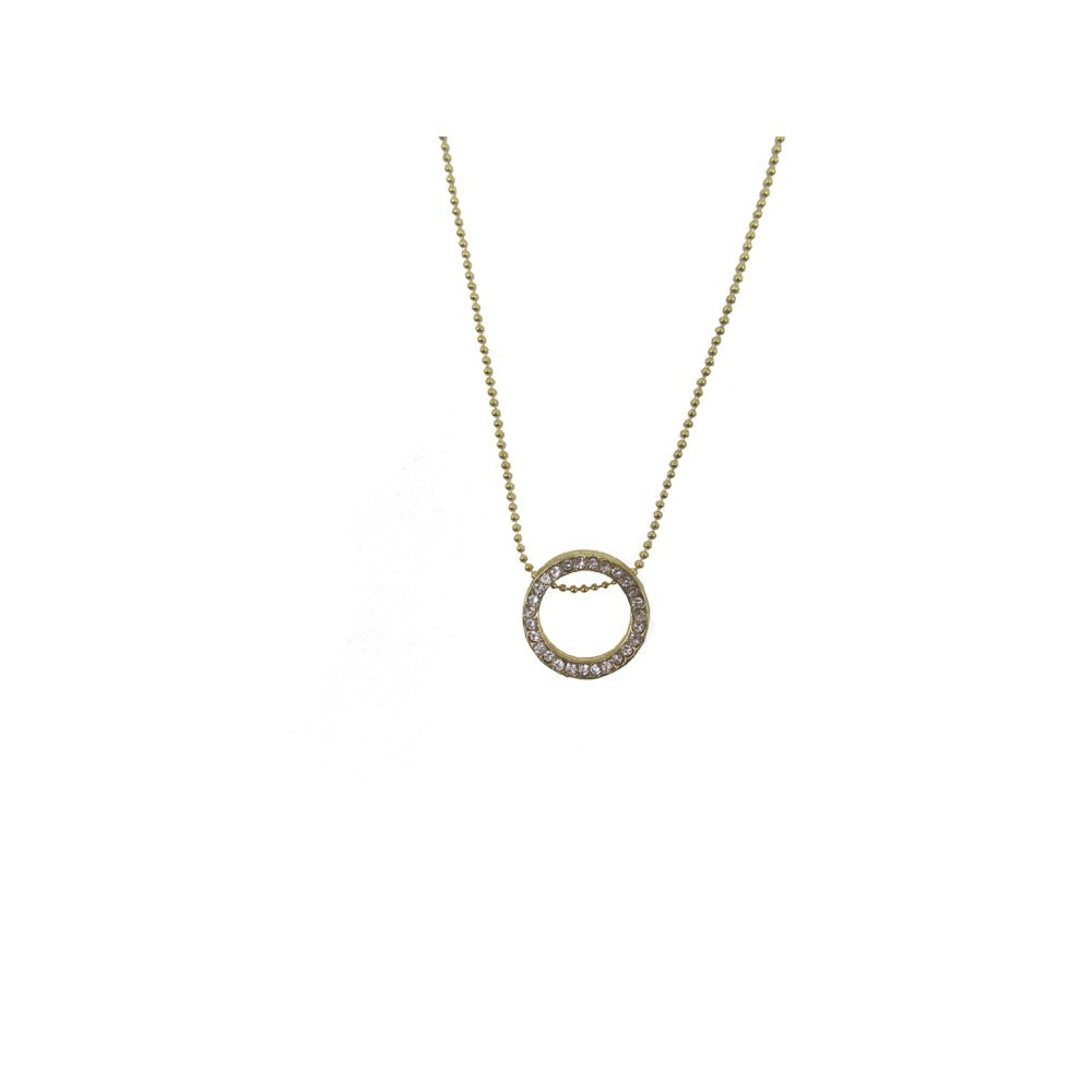 Circle Pendant Necklace Gold