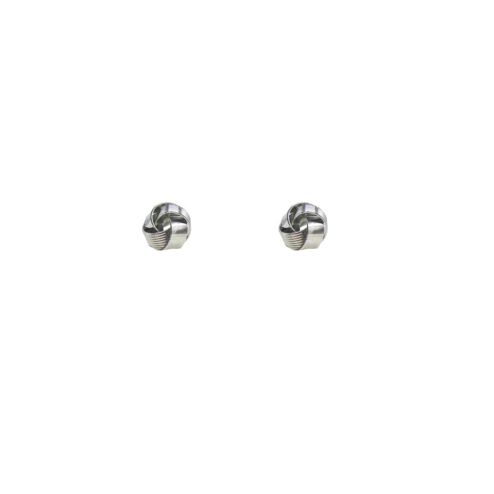 Twist Stud Earring Silver