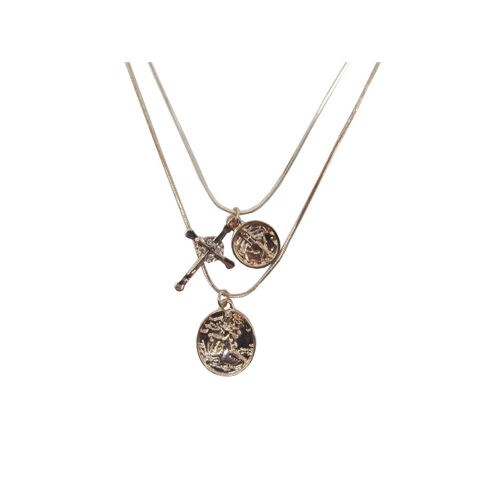 Medallion Necklace Rose Gold