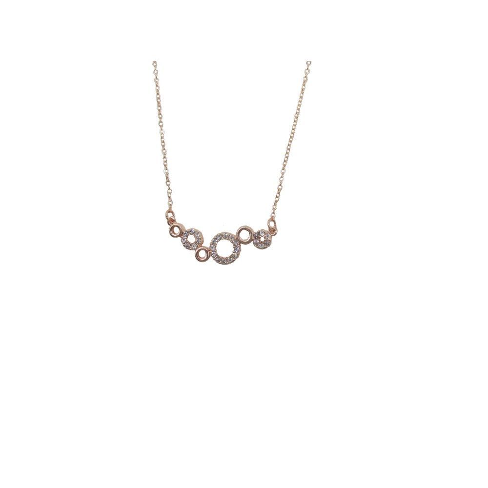 Dainty Circle Necklace Rose Gold
