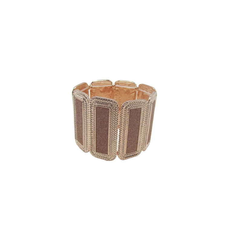 Rectangular Bracelet Rose Gold