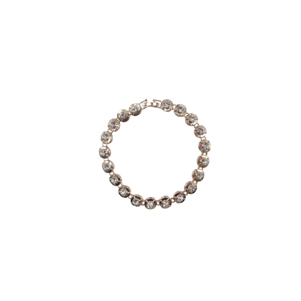 Crystal Diamante Bracelet Rose Gold