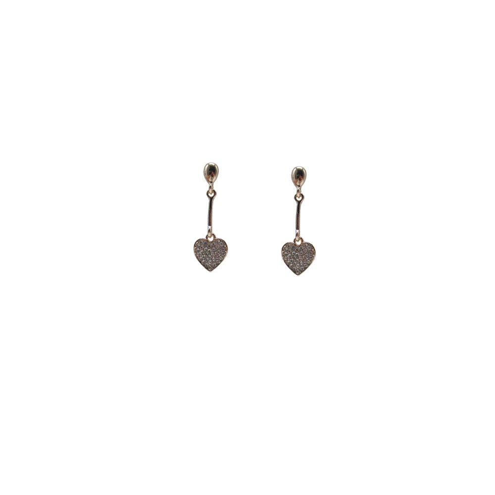 Heart Drop Earring Rose Gold