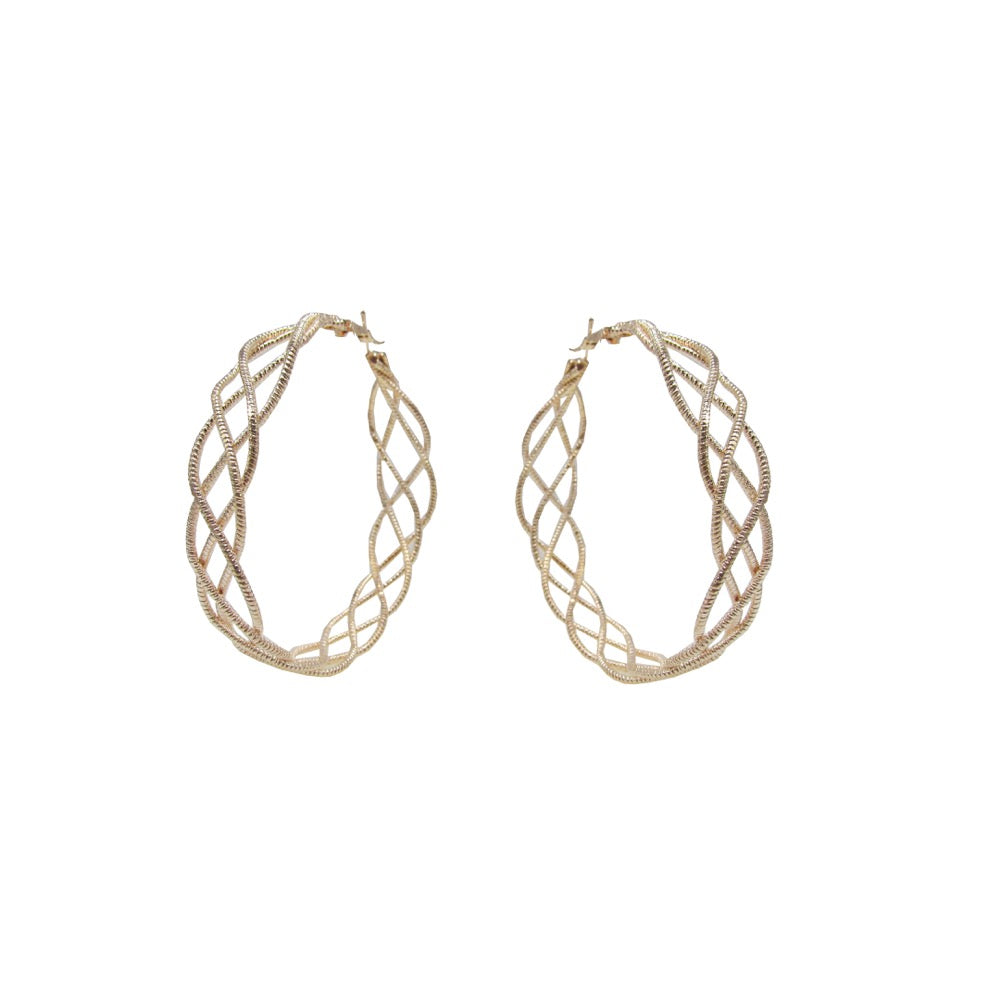 Twisted Hoop Earring Rose Gold