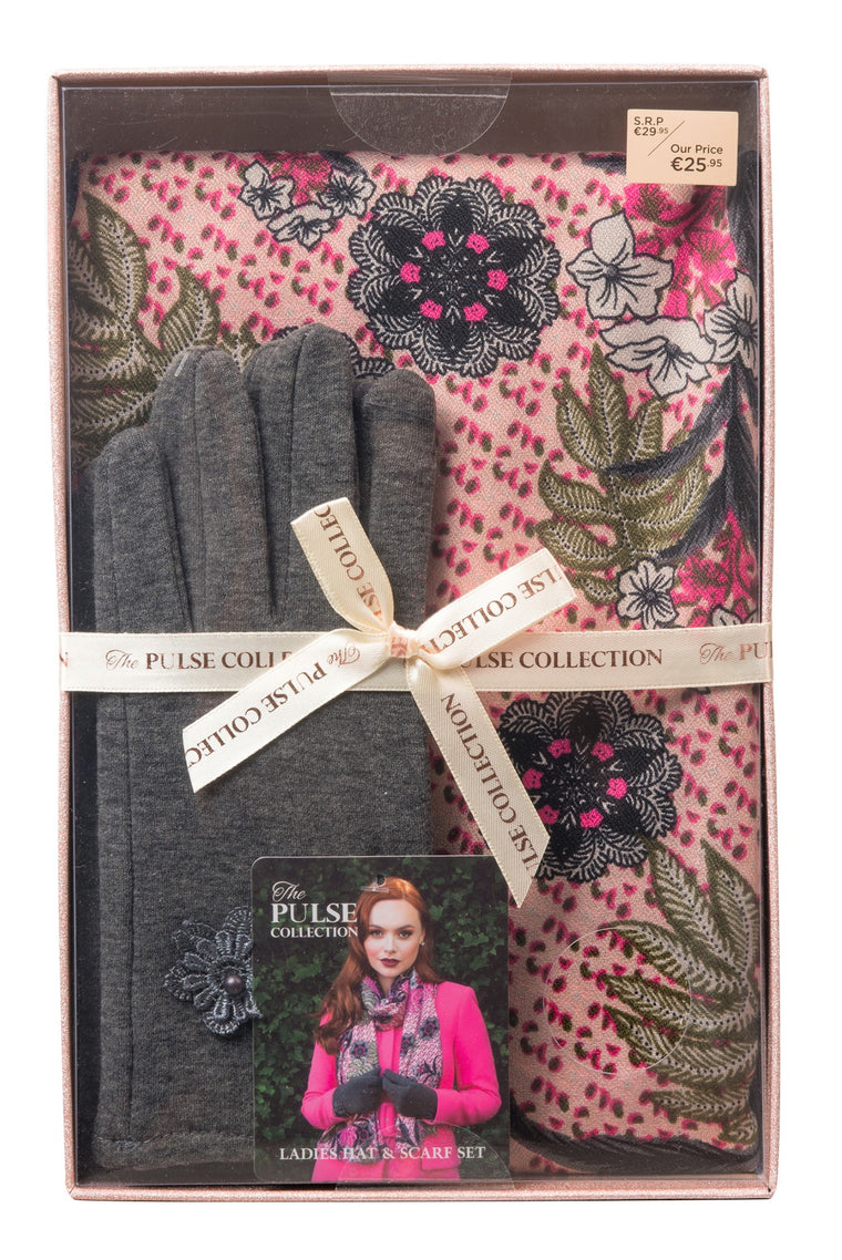 Pulse Ladies Gift Box Scarf & Glove Set