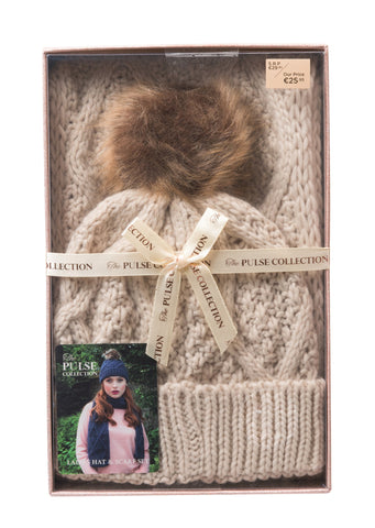 Pulse Ladies Gift Box Hat & Scarf Set