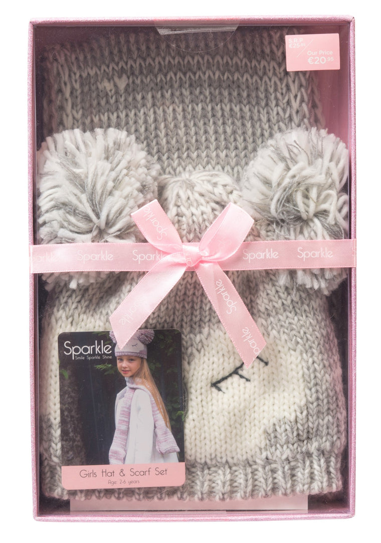 Sparkle Girls Gift Box Hat & Scarf Set