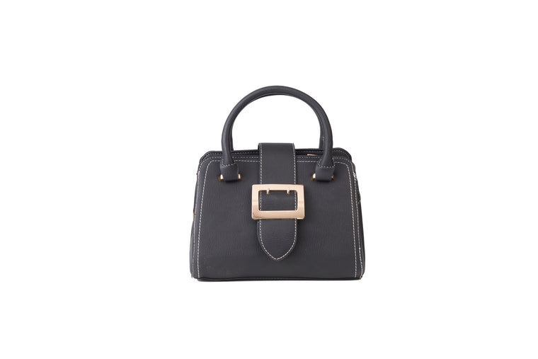 Mini Buckle Handbag Black