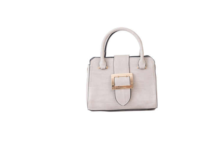 Mini Buckle Handbag Grey