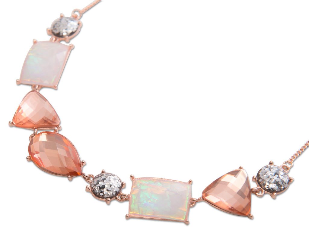 Statement Necklace Rose Gold
