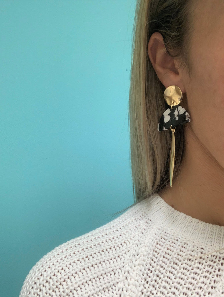 Marble Drop Earring