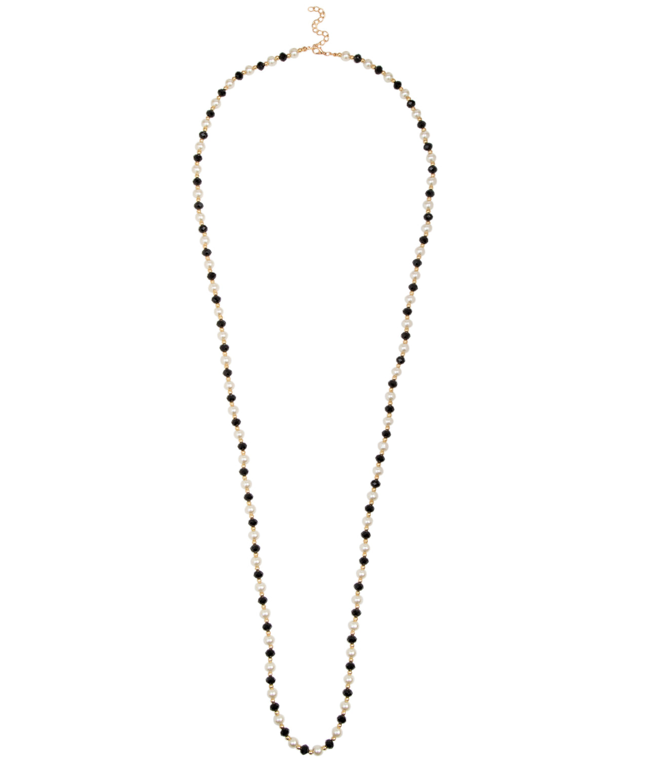 Long Pearl & Bead Necklace