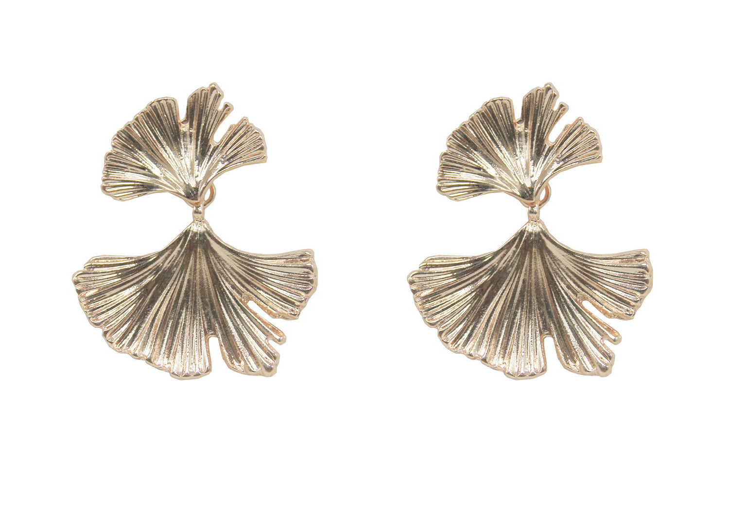 Fan Earring Rose Gold