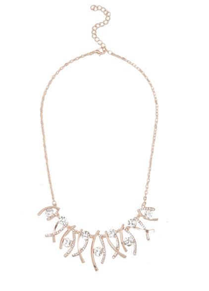 Crystal Necklace Rose Gold